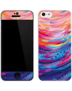 Rainbow Wave Brush Stroke iPhone 5c Skin