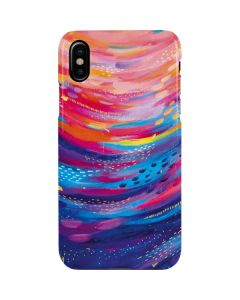 Rainbow Wave Brush Stroke iPhone XS Max Lite Case
