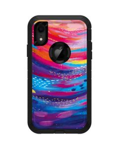 Rainbow Wave Brush Stroke Otterbox Defender iPhone Skin
