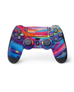 Rainbow Wave Brush Stroke PS4 Pro/Slim Controller Skin