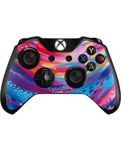 Rainbow Wave Brush Stroke Xbox One Controller Skin