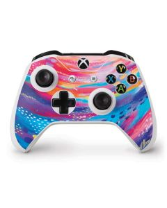 Rainbow Wave Brush Stroke Xbox One S Controller Skin