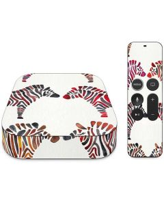 Rainbow Zebras Apple TV Skin