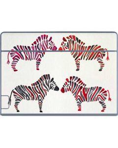 Rainbow Zebras Galaxy Book Keyboard Folio 12in Skin