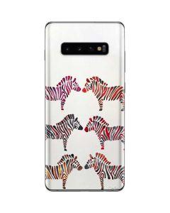 Rainbow Zebras Galaxy S10 Plus Skin