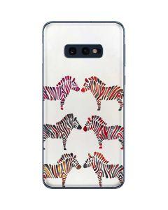 Rainbow Zebras Galaxy S10e Skin