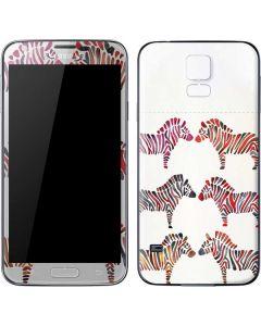 Rainbow Zebras Galaxy S5 Skin