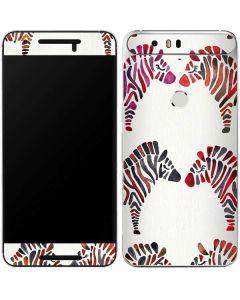 Rainbow Zebras Google Nexus 6P Skin