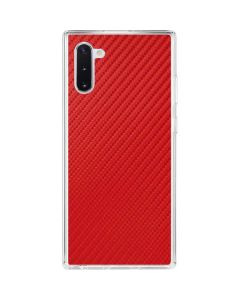 Red Carbon Fiber Galaxy Note 10 Clear Case