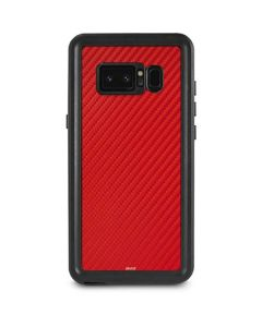 Red Carbon Fiber Galaxy Note 8 Waterproof Case