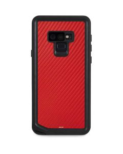 Red Carbon Fiber Galaxy Note 9 Waterproof Case
