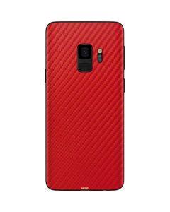 Red Carbon Fiber Galaxy S9 Skin