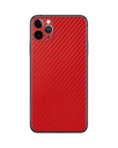Red Carbon Fiber iPhone 11 Pro Max Skin