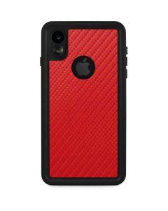 Red Carbon Fiber iPhone XR Waterproof Case