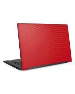 Red Carbon Fiber Dell Latitude Skin