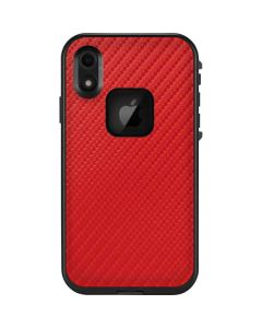 Red Carbon Fiber LifeProof Fre iPhone Skin