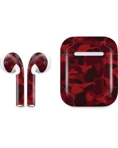 Red Street Camo Apple AirPods Skin