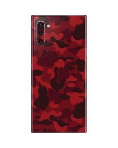 Red Street Camo Galaxy Note 10 Skin