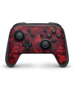 Red Street Camo Nintendo Switch Pro Controller Skin