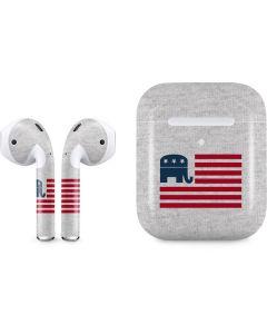 Republican American Flag Apple AirPods 2 Skin