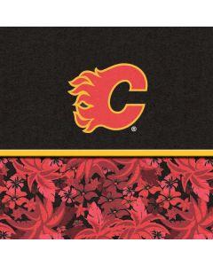 Calgary Flames Retro Tropical Print Apple TV Skin