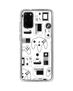 Retro Gaming Controllers Galaxy S20 Plus Clear Case