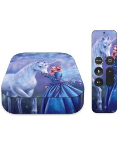 Rhiannon Fairy and Unicorn Apple TV Skin