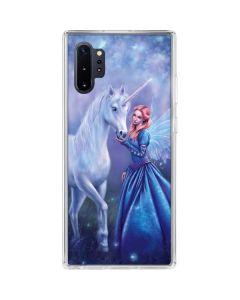 Rhiannon Fairy and Unicorn Galaxy Note 10 Plus Clear Case