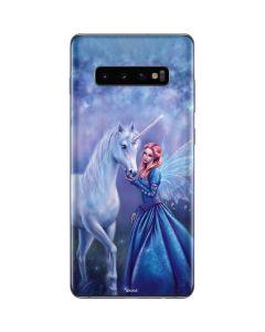 Rhiannon Fairy and Unicorn Galaxy S10 Plus Skin