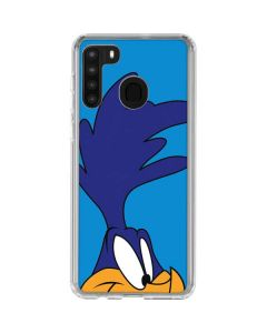 Road Runner Zoomed In Galaxy A21 Clear Case