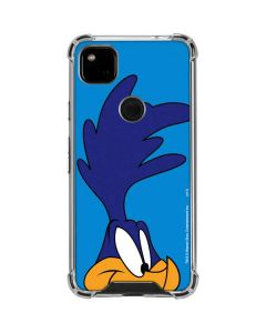 Road Runner Zoomed In Google Pixel 4a Clear Case