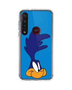 Road Runner Zoomed In Moto G8 Plus Clear Case
