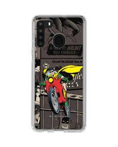 Robin Mixed Media Galaxy A21 Clear Case