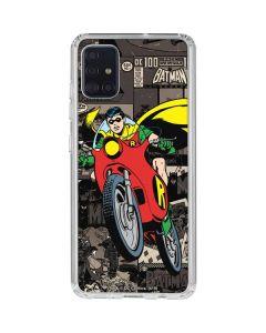 Robin Mixed Media Galaxy A51 Clear Case