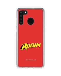 Robin Official Logo Galaxy A21 Clear Case