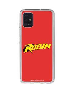 Robin Official Logo Galaxy A51 Clear Case