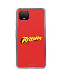 Robin Official Logo Google Pixel 4 XL Clear Case