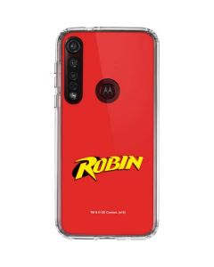Robin Official Logo Moto G8 Plus Clear Case