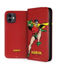 Robin Portrait iPhone 11 Folio Case
