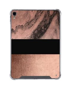 Rose Gold and Black Marble iPad Pro 11in (2018-19) Clear Case