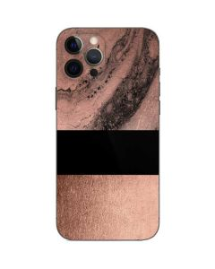 Rose Gold and Black Marble iPhone 12 Pro Max Skin