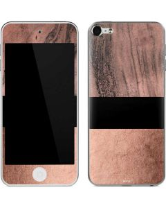 Rose Gold and Black Marble Apple iPod Skin