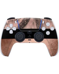 Rose Gold and Black Marble PS5 Controller Skin