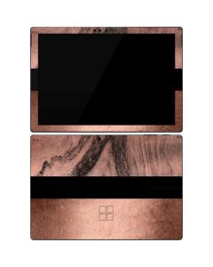 Rose Gold and Black Marble Surface Pro 7 Skin