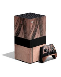 Rose Gold and Black Marble Xbox Series X Bundle Skin