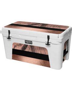 Rose Gold and Black Marble YETI Tundra 75 Hard Cooler Skin