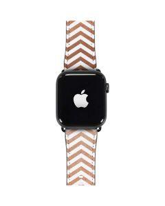Rose Gold Chevron Apple Watch Band 42-44mm