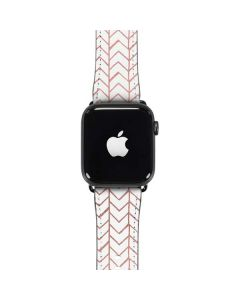Rose Gold Herringbone Apple Watch Case