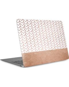 Rose Gold Herringbone Apple MacBook Air Skin