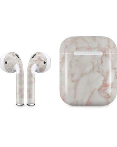 Rose Gold Marble Apple AirPods Skin